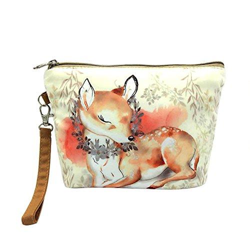Vi.yo sac de stockage de sac à main sac cosmétique durable avec de beaux modèles d'animaux pour les femmes dames (style 3)