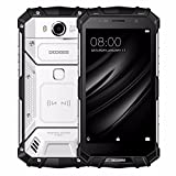 DOOGEE S60 Wireless Charge 5580mAh 12V2A Quick Charge 5.2'' FHD Helio P25 Octa Core 6GB 64GB Smartphone 21.0MP Camera (Silver)