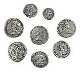 Römische Kaisermünzen - Reproduktion antiken Römische Münzen - Versilbertes Metall - Set 8 Kaiser Das Alte Rom