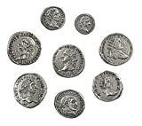 Eurofusioni Monedas Romanas Imperiales chapada Plata - Set 8 Emperadores Antigua Roma