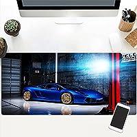 拡張大型ゲーミングマウスパッド、滑り止めラバーベース、防水面、耐摩耗性シーム、レーザーおよび光学式マウスとの互換性-style05  900x400x3mm