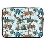 Dinosaurs Animals 13/15 Inch Laptop Sleeve Bag for MacBook Air 11 13 15 Pro 13.3 15.4 Portable Zipper Laptop Bag Tablet Bag,Water Resistant,Black