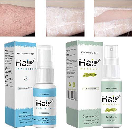 MGQ 2 Bottles of Semi-Permanent Hair Remover Spray & Non-Irritating Inhibit Hair Growth Spray,Make Your Skin Smooth