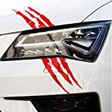 Finest Folia Pegatina para coche o camión, diseño de garras de tigre, color rojo carmín (K053)