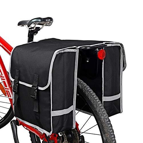 KKJLXX Fahrradtasche Fahrrad-Rücksitz-Beutel-Doppelt-Seiten Fahrrad Bag Sattelstütze Taschen Fahrradzubehör Fahrrad-Gepäcktaschen hinten Radtaschen Rahmentasche