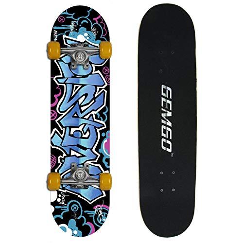 Gemtune WIN.MAX 9 di skateboard strati Acero modello doodle pattinaggio concavo