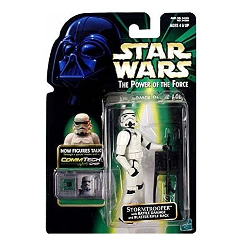 Hasbro / Kenner Imperial Stormtrooper with Battle Damage & Commtalk Chip - Star Wars Power of the Force Collection