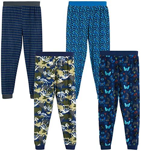DDILKE Boys Plaid Pajama Pants Soft Long Lounge Check Pant Sleep Bottoms