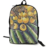 XCNGG Erwachsenen-Vollformat-Druckrucksack Lässiger Rucksack Rucksack Schultasche NiYoung Casual Large College School Daypack - Laptop Outdoor Backpack Cactus Style Backpack