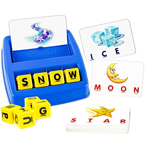 Matching Letter Game,Letter Spelling and Learning Game for Preschool Kindergarten Letter Picture Word Matching Game, Educational Word Games for Kids