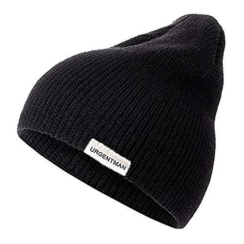 bhyu Strickmütze 1 STK. Unisex-Mütze Lässige Mütze für Männer und Frauen Warme,weiche,gestrickte Wintermütze Fashion Plain Tägliche Mütze,Häkelmütze,schnell trocknende,leichte,atmungsaktive,weiche