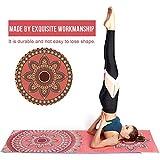 awhao Yoga Handtuch Fitnesstuch, Weich, Atmungsaktiv, rutschfest & Schnelltrocknend - Antirutsch...