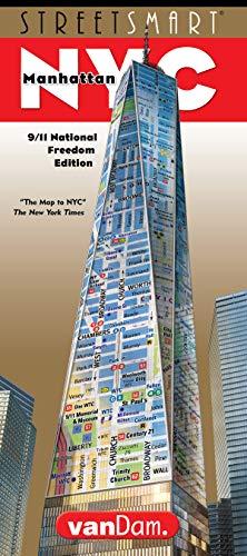 StreetSmart NYC Stadtkarte von VanDam, Laminierte Stadtkarte, Manhattan mit allen Attraktionen, Museen, Theatern, 3D Gebäuden & U-Bahn 2018