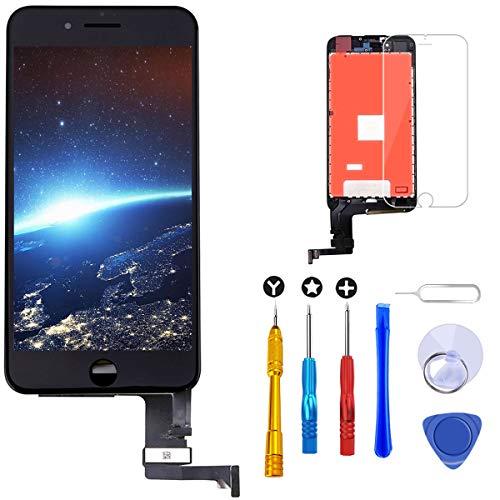 Brinonac Pantalla para iPhone 8 Plus, 5.5' Táctil LCD de Repuesto Ensamblaje de Marco Digitalizador con Herramienta de reparación y Protector de Pantalla (Negro)