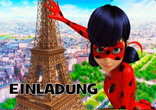 TV-24 Miraculous Ladybug Einladungskarten 12er Set inkl. 12 Umschläge E5