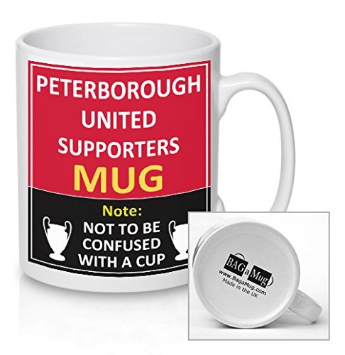 Peterborough United Football Supporters Rival Team Joke Funny New and Easy Office Tea and Coffee Mug Gift