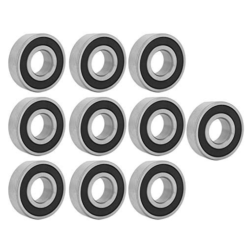 Rodamiento de bolas de ranura profunda de acero con rodamiento de 10 piezas 6203RS de 17 mm, rodamiento de bolas de ranura profunda de 17 mm