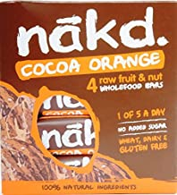Nakd Bars Orange Chocolate – Gluten-Free Lactose-Free Raw Vegan 4 bars Nakd Estimated Price : £ 9,71