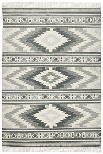 TOM TAILOR Teppich Vintage, Kelim Colors I, Grau 65cm x 135cm Grau