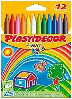 Plastidecor - Estuche con 12 ceras de colores