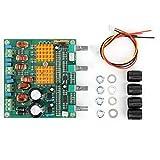 WAQU Placa amplificadora Placa amplificadora de Audio de Alta Potencia Placa amplificadora de Potencia Subwoofer de 3 Canales 22-26VDC