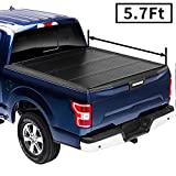AUTOSTARLAND Flip Fiberglass Hard Folding Truck Bed Waterproof Tonneau Cover Fits 2009-2018 Ram 1500/2019-2021 Classic Dodge Ram / 2019 Ram 2500 3500 5' 7' Bed (67.4')