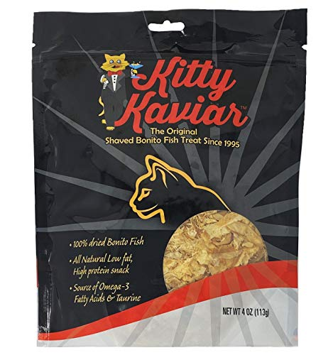 Kitty Kaviar Shaved Bonita Fish Treats All Natural Strong Fishlike Aroma 4oz