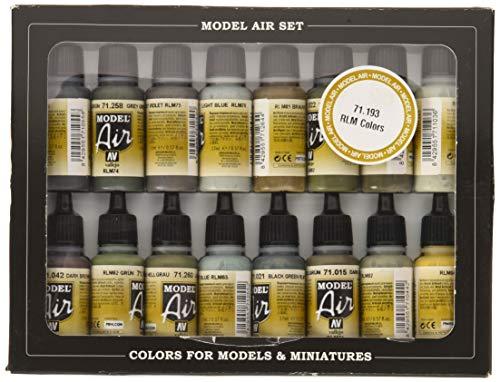 Vallejo Model Air Set - Pinturas de acrílico (15 x + 1 RLM pintura Mate)