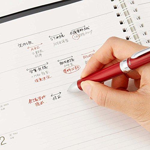 Pentel Multi Function Pen Vicuna EX, Fine Ballpoint Pen, 0.5mm Mechanical Pencil, Red Body (BXW1375B) Photo #6