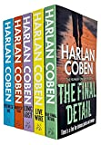 Myron Bolitar Series Books 6 - 10 Collection Set by Harlan Coben (Final Detail, Live Wire, Long Lost, Darkest Fear & Promise Me)