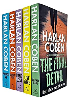 Myron Bolitar Series Books 6 - 10 Collection Set by Harlan Coben  Final Detail Live Wire Long Lost Darkest Fear & Promise Me