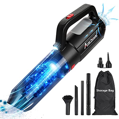 AVID POWER Cordless Car Vacuum, 2 in 1 Handheld Vacuum Cleaner with 7kpa Powerful Suction/Blow Function, Rechargeable Hand Vacuum for Pet Hair, Car and Home Cleaning