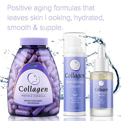 51yBAEB4CpL - Collagen Cream - Anti Aging Face Moisturizer - Day and Night Wrinkle Cream - Infused with Hyaluronic Acid, Vitamin E - Natural Eye Cream, Collagen Skin Care for Women