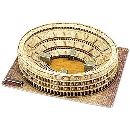 HEMFV Puzzle 3D Coliseo Romano, Rompecabezas Modelo Kit de Regalo de los niños