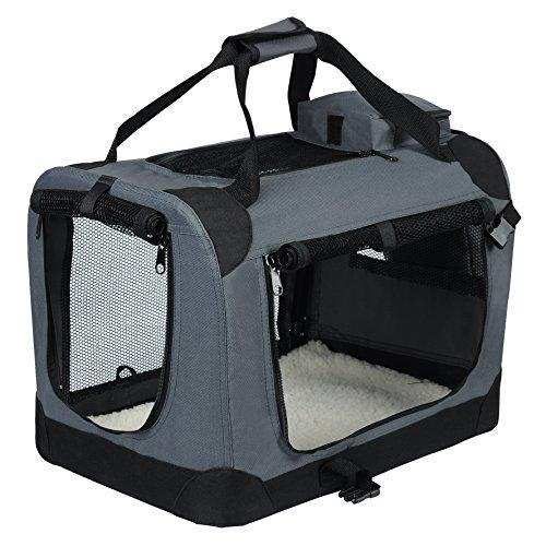 EUGAD Hundebox faltbar Hundetransportbox Auto Transportbox Reisebox Katzenbox 0129HT