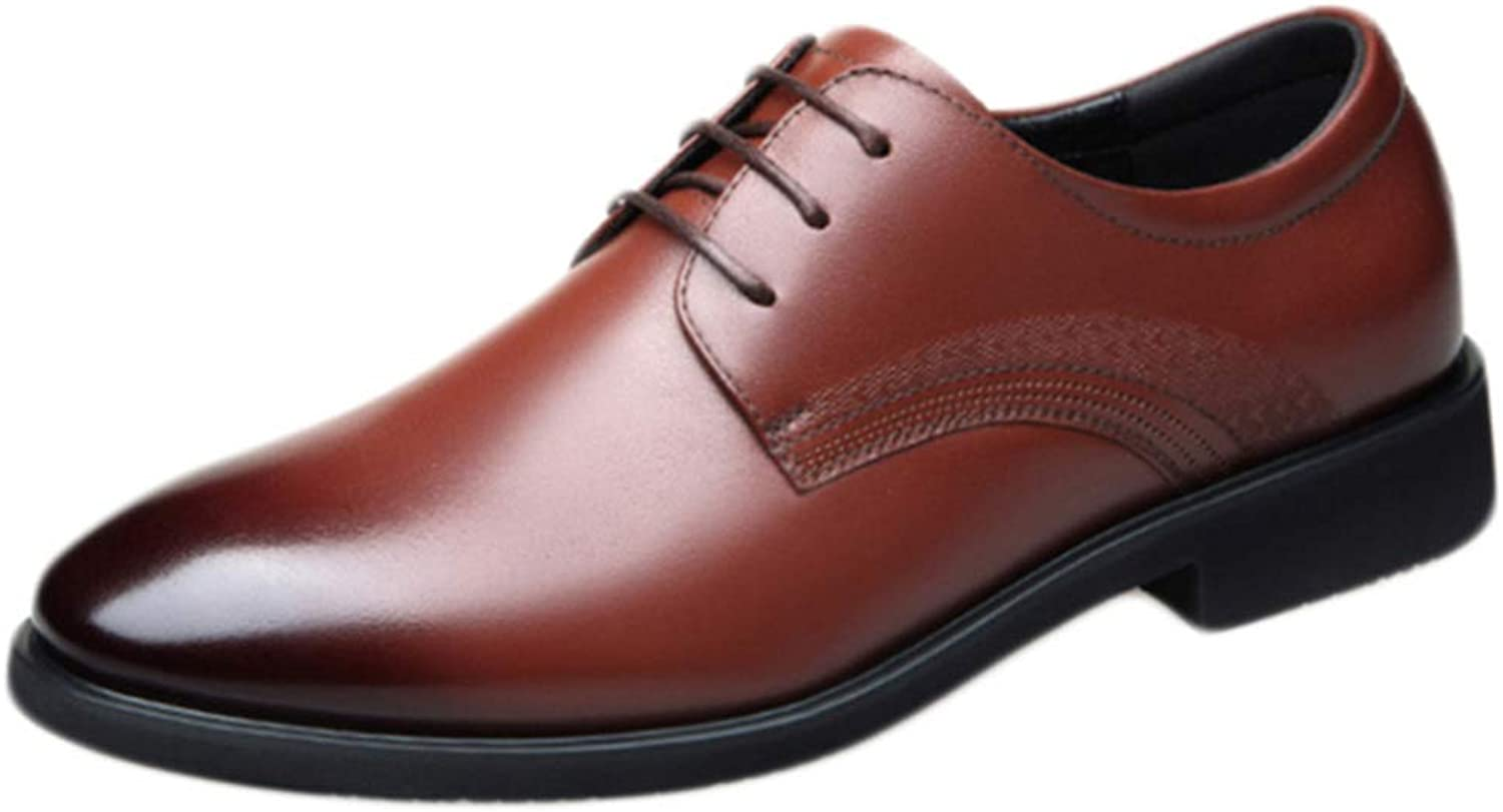 Men's Leather shoes lace-up Welted Business Fashion Men's Casual Leather shoes Leather Men's shoes