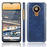 BEIJING ♋ PROTECTIVECOVER+ / for Compatible with Nokia 5.3 A Prueba de Golpes Litchi Texture PC + Caso PU, Fashion Phone Funda para Protector (Color : Azul)