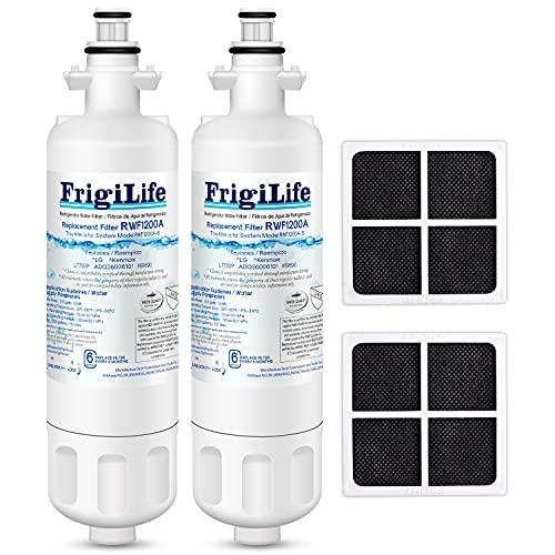 FrigiLife 9690 & ADQ36006101 Replacement for LG LT700P Kenmore Elite 46-9690, ADQ36006102, HDX FML-3, LFX28968ST RWF1200A LFXS30766S LFX31945ST Refrigerator Water Filter and LT120F Air Filter, 2Combo