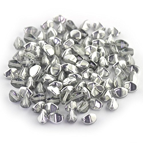 Preciosa Czech Glass Beads Ceca Perle di Vetro 5 mm Pizzico Vitrail Light, 100 pz