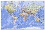 Impresionante mapamundi laminado de grandes dimensíones