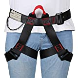 HandAcc Climbing belts, Safe Seat Belts for Tree Climbing Outdoor Training Caving Rock Climbing Rappelling Equip - Half Body Guide belt for Women Man and Novice