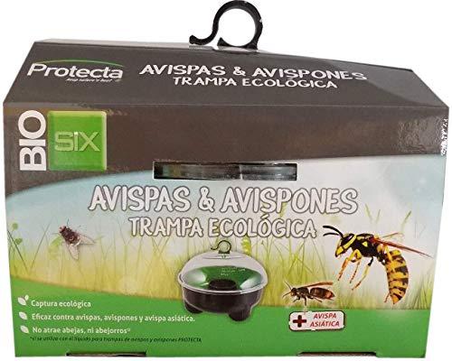 BIOSIX Trampa Ecológica Definitiva contra Avispas Asiáticas, Velutinas y Avispones (1 x Jaula de Captura + 1 x Líquido Atrayente Avispa' CLAC 500ml)