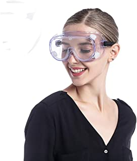 Goggles For Chemistry Lab Anti Fog Safety Glasses Over Prescription Glasses Eyewear For Science Onion Goggles For Women Ey...