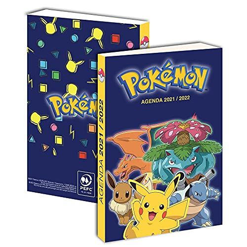 Agenda scolaire pokemon pikachu 2021 2022