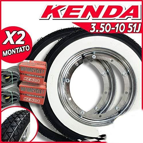 Par Ruedas Completo Kenda K333 Banda Blanco 3.50-10 51JV Espa Px 125 150 200