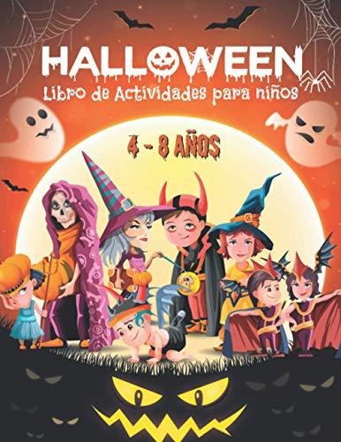 Libro de Actividades para Niños de 4 a 8 años: Libro Juegos Halloween infantil | Colorear, Sudokus, Laberintos, Unir los puntos, Encuentra la sombra, Encuentra las diferencias