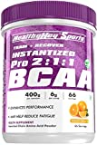 HealthyHey Sports BCAA Powder 2:1:1, Branched Chain Amino Acids, BCAAs, Tangy Orange, 66