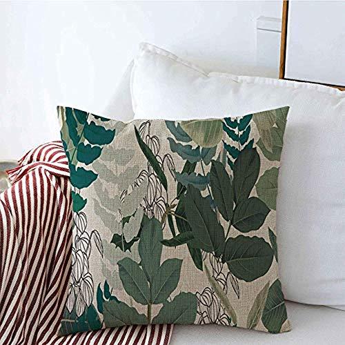 New-WWorld-Shop Kissenbezüge Muster Awaresome Frühling Pastell Botanical Green Zimmerpflanze verlässt Garten auf Flora Pflanze Kissenbezüge
