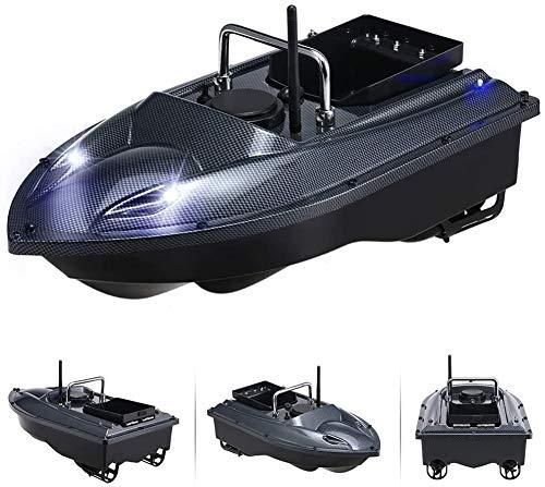 WQSFD Fischfinder Futterboot Wasserdicht Schiff mit Doppelmotor 500M 2.4 GHz Angeln RC Boot Ferngesteuertes Fischerboot Fischköder 1.5kg, für Pools und Seen