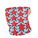 Lozeow Face Cover Background Pattern with Sea Stars Moisture Wicking Balaclava - Ideal for Running, Biking and Athletic Workouts